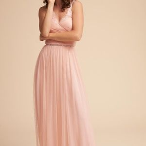 HITHERTO BHLDN Blush Grown with lace accents 4